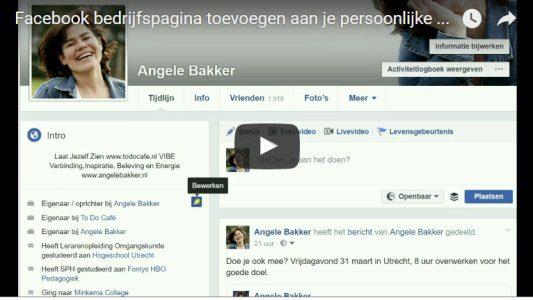 Facebook bedrijfspagina koppelen aan persoonlijke pagina