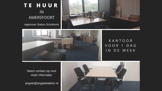 Kantoor in Amersfoort te huur voor 1 dag in de week
