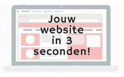 Bezoekers beslissen in 3 seconden of ze op je website blijven
