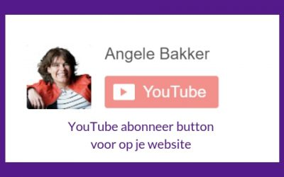 YouTube abonnee button voor op je website