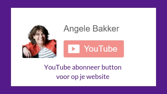 YouTube abonnee button voor op je website